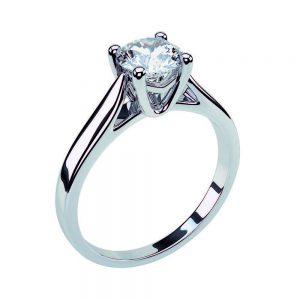 Anello di Fidanzamento Ali Oro 18 ct. Diamante 0.70 SI1
