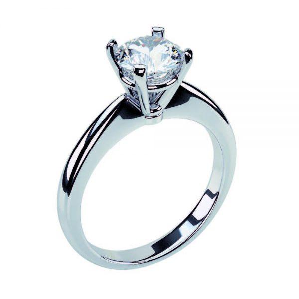 Anello di Fidanzamento Diadema Oro 18 ct. Diamante 0.90 SI1