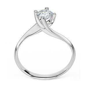 Anello di Fidanzamento Intreccio Oro 18 ct. Diamante 0.70 VVS1