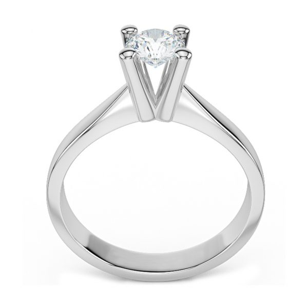 Anello di Fidanzamento In Equilibrio Oro 18 ct. Diamante 0.50 SI1