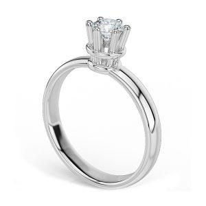 Anello di Fidanzamento Fortezza Oro 18 ct. Diamante 0.90 SI1