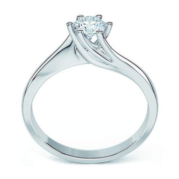 Anello di Fidanzamento Vento Oro 18 ct. Diamante 0.70 VVS1