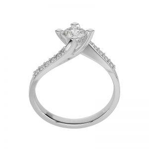 Anello di Fidanzamento Ballerina Oro 18 ct. Diamante 0.90 SI1